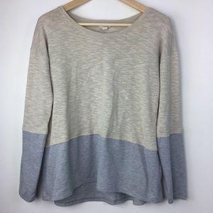 Sun & Shadow Long Sleeve Tan and Blue Sweater L